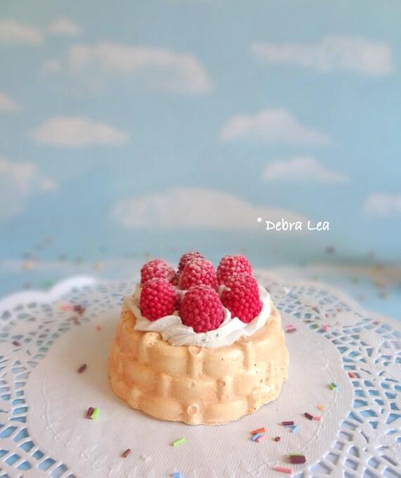 Fake Mini Bundt Cake Raspberries Charlotte Shortcake