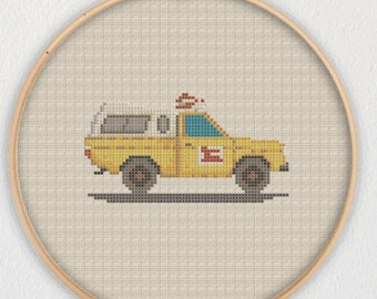 Pizza Planet Truck Toy Story Cross Stitch Pattern - Instant Download PDF
