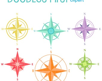 Fancy Compass Set Clip Art for Scrapbooking Card Making Cupcake Toppers Paper Crafts