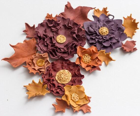 how to make fondant fall leaves