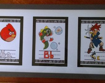 5 x 7 Video game themed alphabet prints