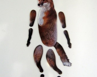 Fox Magnet, Movable Animal Magnet
