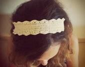Crochet headband. Handmade Turban, Women Cotton band, Boho Hair Band.