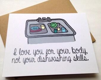 Funny Love Card - Funny Card - Humor Card - Anniversary Card - Husband Card
