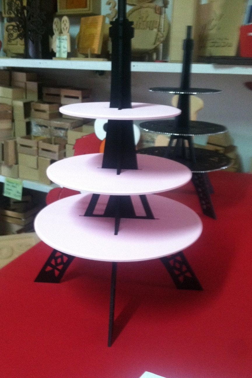 cupcake stand eiffel tower 3 tier. Black Bedroom Furniture Sets. Home Design Ideas
