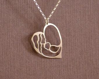 Motherhood - Hand Cut Sterling Silver Pendant, Necklace