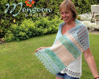 Crochet Wrap Pattern ~ Instant Download ~ Monsoon Stole