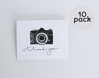 10 pk Camera thank You note cards