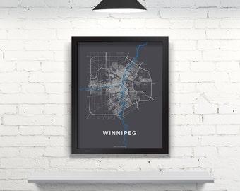 Far Sky Winnipeg, Manitoba Roadnet Map