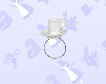 Alice in Wonderland Teacup Ring- Disney Wonderland Underland Tea Party