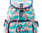 Monogram Backpack/ Personalized  Back pack/diaper bag/bag