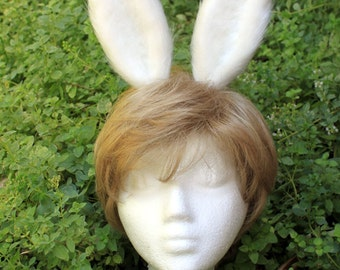 White Bunny Ear Headband