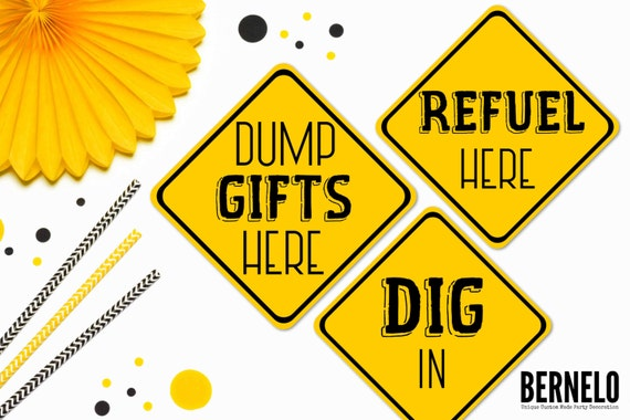 Resource image intended for free printable construction party signs