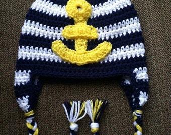 Crochet Anchor Hat