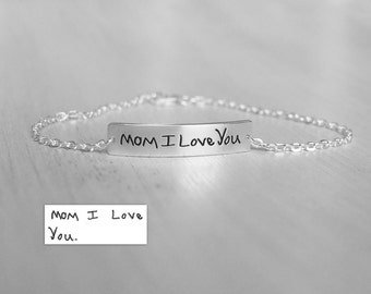 Actual Handwriting Bracelet - Personalized Bracelet For Her -  Graduation Gift - Friendship Bracelet - Memorial Bracelet - PB10