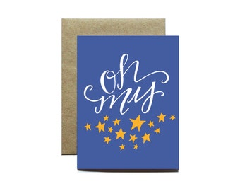 Oh My Stars, Southern Greeting Card, Blank Inside, Any Occasion Card