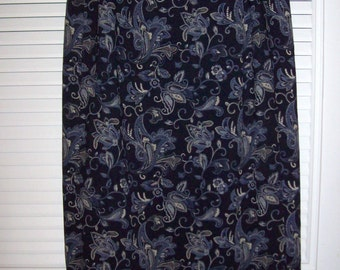 Vintage Talbot's Maxi Wrap Glamourous Lined Skirt Size 10 Lovely  Midnight Paisley !