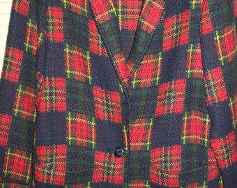REDUCED TODAY  Counterparts Scotch Plaids Warm Bright Women's Jacket.  Size 12 or Medium