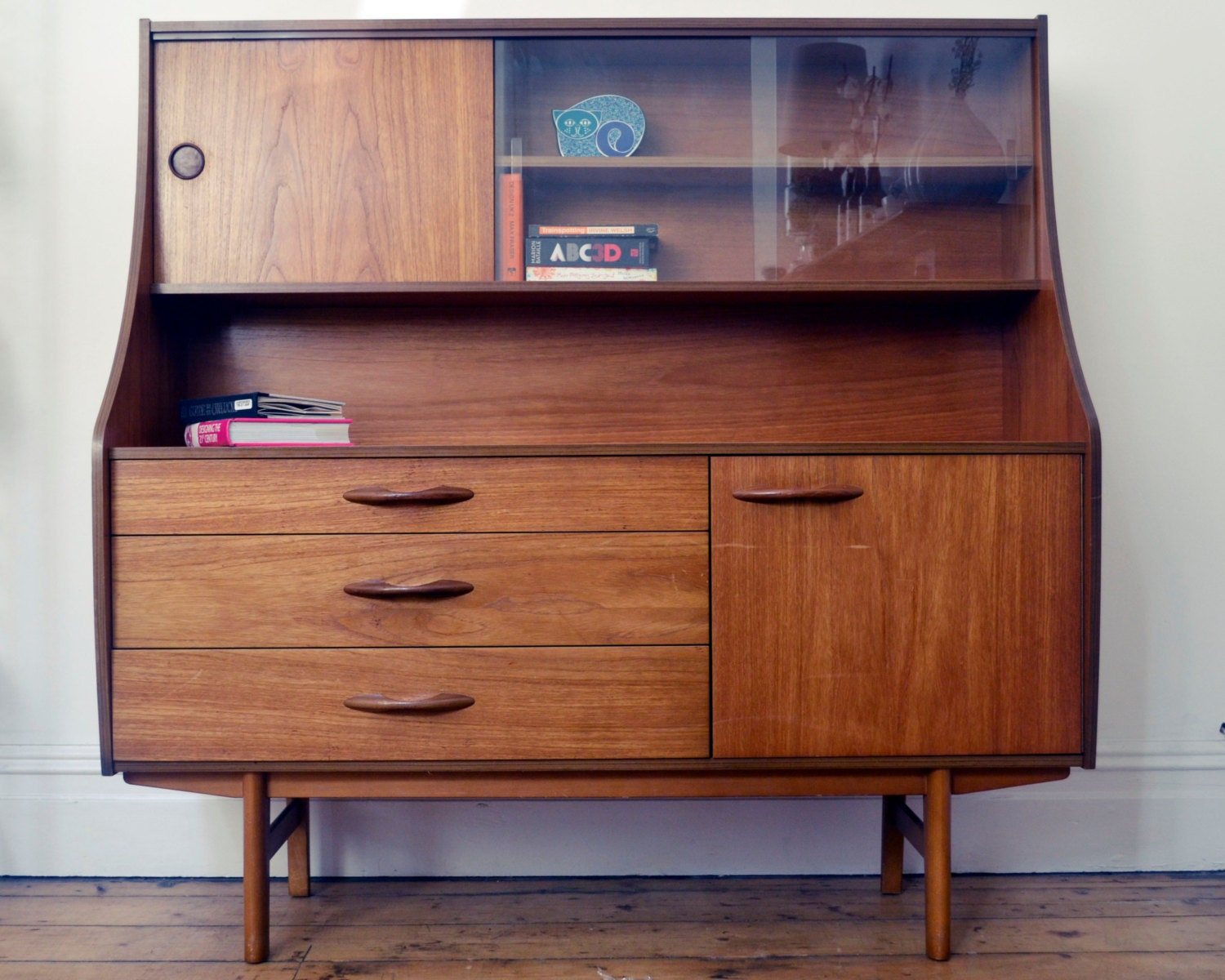 Vintage retro avalon highboard bureau sideboard mid century design 1960s 19 - Bureau design vintage ...