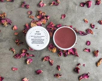 Rose Lip Salve / lip balm / lip gloss / natural / new & improved formula