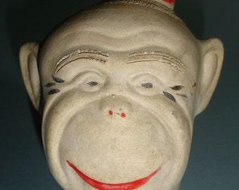 Vintage Chia Pet Organ Grinder's Monkey Head