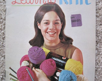 Learn to Knit -  Coats and Clark's #190 - Vintage 1968