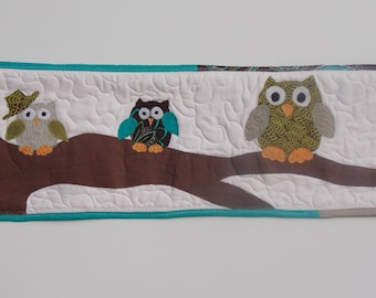 Hooty Owl Family wall hanging