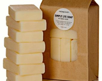 Simply Lye Soap Bar Soap Value Bag (6 bars)
