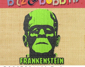 Frankenstein - Digital Embroidery Design - Happy Halloween!