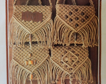 Juliano's Hang It All Book 2 Instructional Book with 81 Diagrams of Macrame Knots also Wall Hanging & Purse With Front Variations Patterns