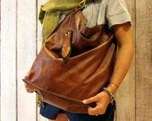 ALLEGRA BAG , Handmade vintage Italian Leather Tote Bag