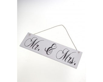 SALE!!! Mr & Mrs Hanging Plaque