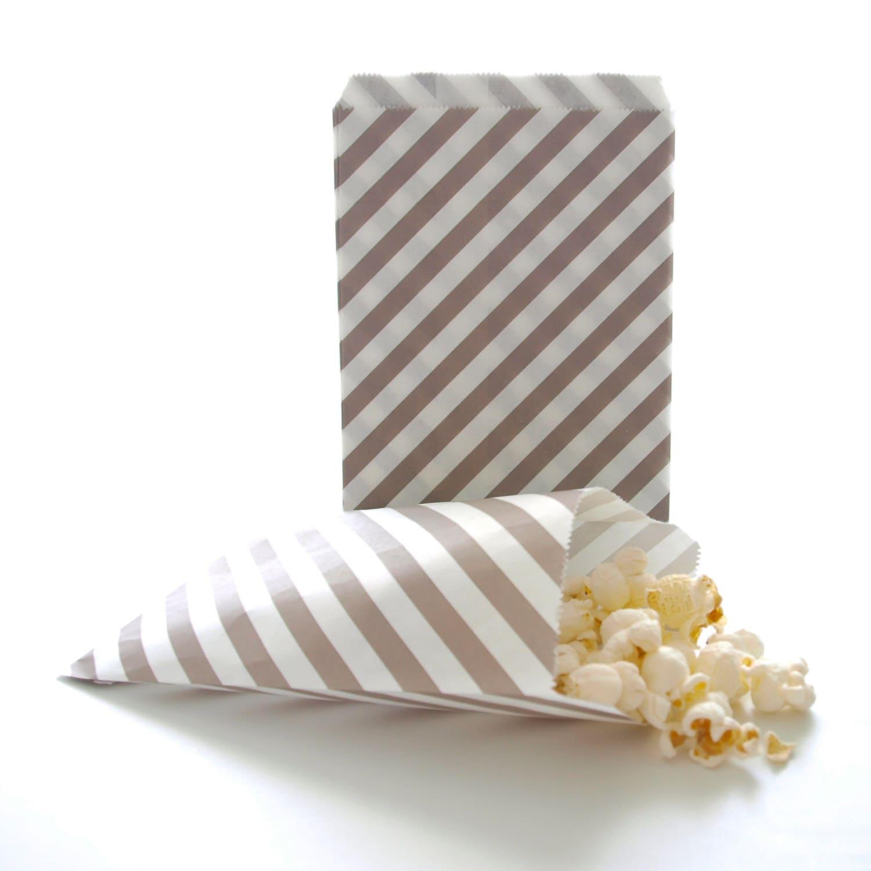 Silver Paper Bags Birthday Favor Ideas Wedding Candy Buffet