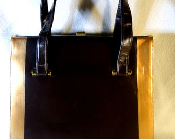 "Vintage  Leather, Calfskin Lined , Jana Designer Handbag "" Simplicity"" One of a Kind"