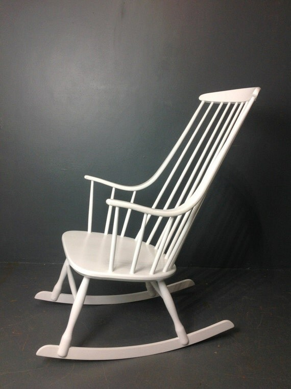 Reduced lena larsson rocking chair 1960s by homeworkfurniture for Reduced furniture