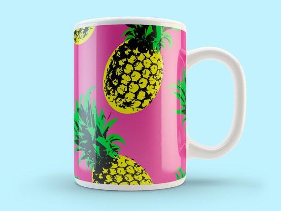 Pineapple Mug Pineapple Gift Cool Mugs By Thesmallprintcases