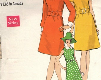 Vintage 1960s Vogue Sewing Pattern 7331- Misses' One-Piece Dress size 14 bust 36
