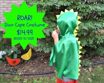 Dinosaur Cape Costume. Dino Cape. Dino Costume. Dinosaur Costume. Toddler Costume. Boy Costume. Girl Costume. Science Lover Gift. Boy Gift.