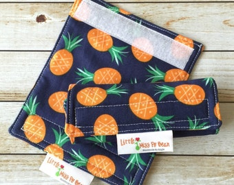 Pineapple Luggage Handle Covers, Pair, Reversible, Luggage Wraps, Travel Accessory