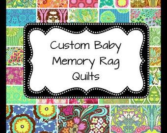 Baby Memory Quilt, Keepsake Blanket, Baby Clothes Blanket, T-shirt blanket, Memory Blanket, Keepsake Quilt, Baby Clothes Quilt, Tshirt Quilt