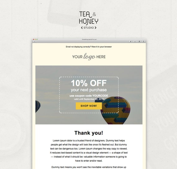 Email newsletter template mailchimp compatible html coded for Html code for email template