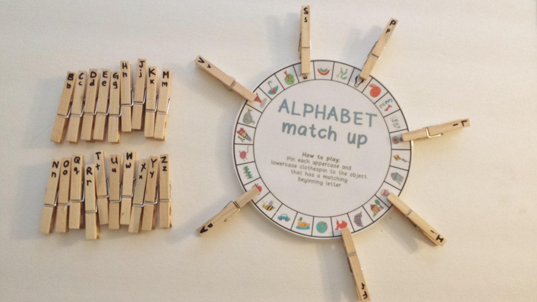 Busy Bag Kindergarten Activity Alphabet Wheel Clothes Pin