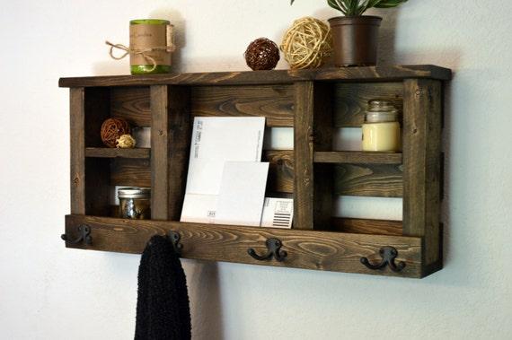 entryway mail holder wall organizer shelf key by. Black Bedroom Furniture Sets. Home Design Ideas