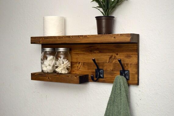 awesome floating bathroom shelves towel | Modern Bathroom 2 Tier Floating Shelf Towel by ...