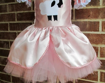 Boutique custom handmade pageant girls LIttle Bo Peep or Mary Had a Little Lamb Costume
