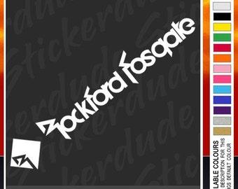Large Rockford Fosgate (580mm) vinyl sticker decal for car, bike. car audio