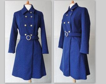 60s/70s Vintage Coat // Blue // Size S/M