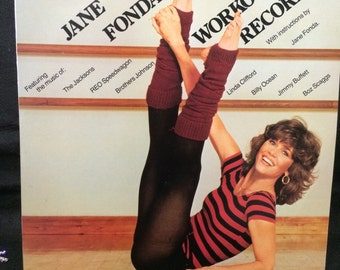 1982 Jane Fonda Workout Record With Illustrations By Jane For Beginners And Advanced
