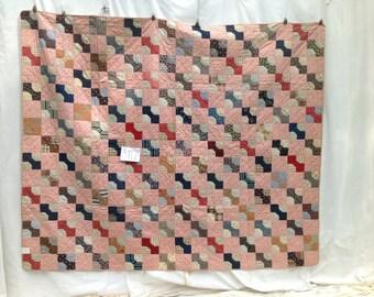 Bowtie c 1900 antique quilt,  # 3117