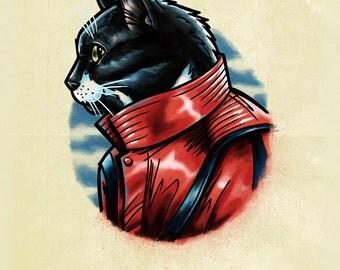 Custom Pet Portrait Illustration, Giclee Fine Art Print, For Animal Lovers, Personalized Pet Art Print